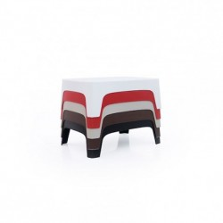 Table basse design  Rouge SOLID