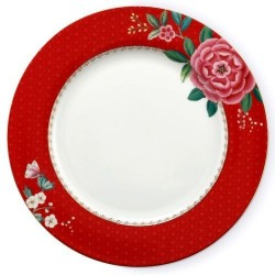 Assiette Plate Blushing Birds rouge 26,5 cm