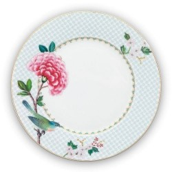 Assiette plate 21cm - Collection BLUSHING BIRDS- Blanc