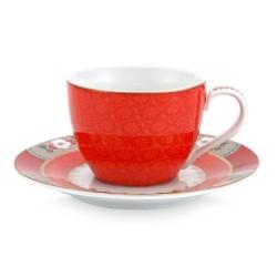 Tasse espresso Blushing Birds rouge
