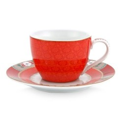Tasse espresso Blushing Birds rouge