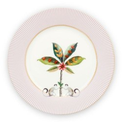 Assiette plate de 21 cm - Collection Majorelle rose