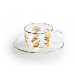 Tasse à café verre  TOILETPAPER LISTICKS