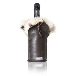 Etui isotherme à champagne en cuir- MARQUE KYWIE