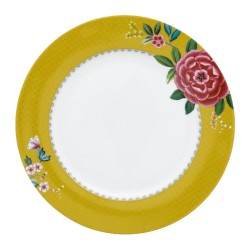 Assiette Plate PIP STUDIO collection BLUSHING BIRDS Jaune