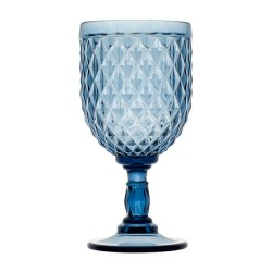 VERRES A PIED MARINE BUSINESS SET DE 6 DIAMOND BLUE.