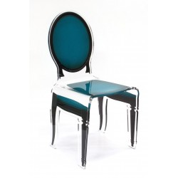 Chaise SIXTEEN Bleu canard ACRILA