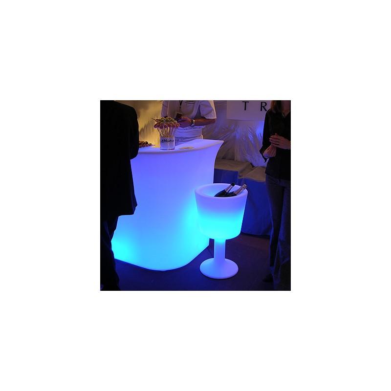 seau champagne lumineux light drink marque slide deisgn. Black Bedroom Furniture Sets. Home Design Ideas