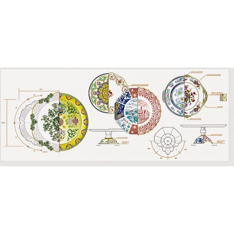 assiette plate collection hybrid seletti fait main assiette design. Black Bedroom Furniture Sets. Home Design Ideas