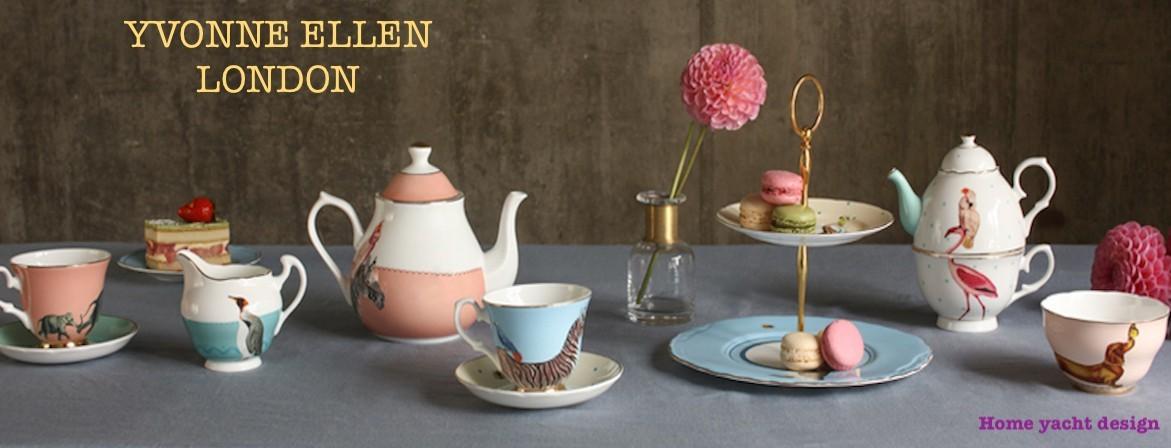 Yvonne Ellen 51PE058 Assiette /à g/âteau en porcelaine anglaise