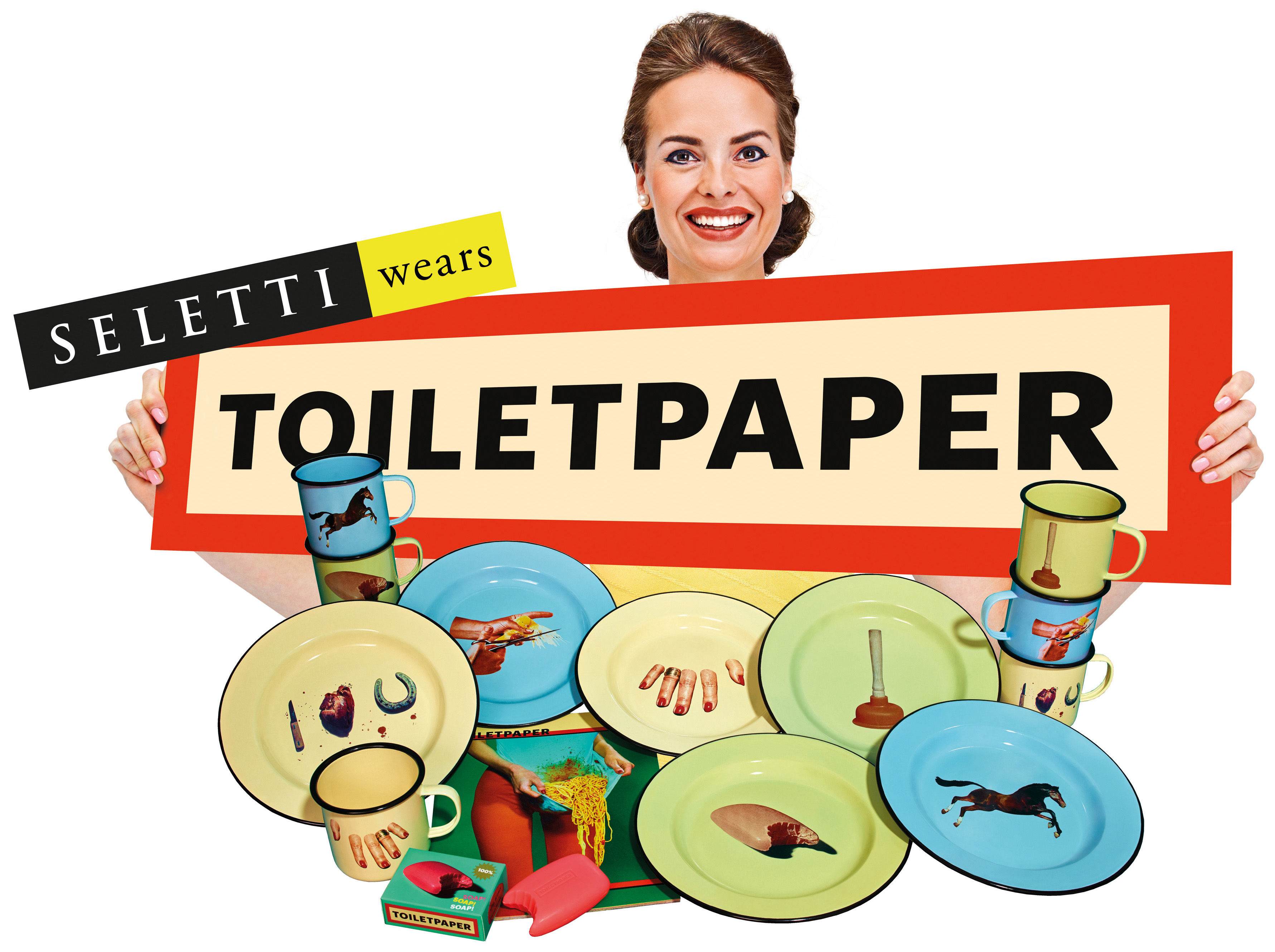 assiette frog Toilet paper by seletti