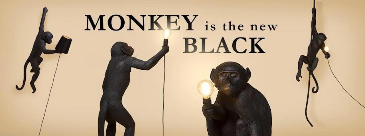 Monkey lampe noire-lampe singe outdoor