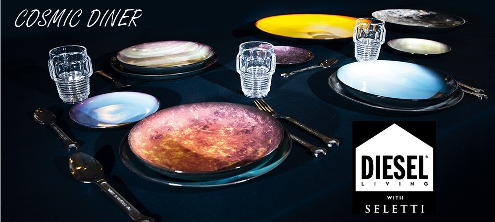 Assiette plate Cosmic Diner Vénus Diesel living with SELETTI