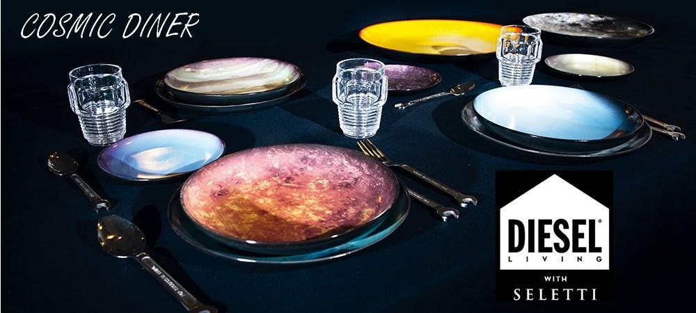 Assiette à dessert Cosmic Diner Neptune diesel living