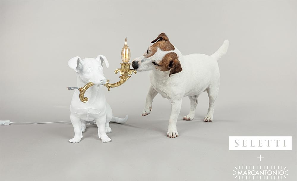 Lampe RIO chien-marque SELETTI design