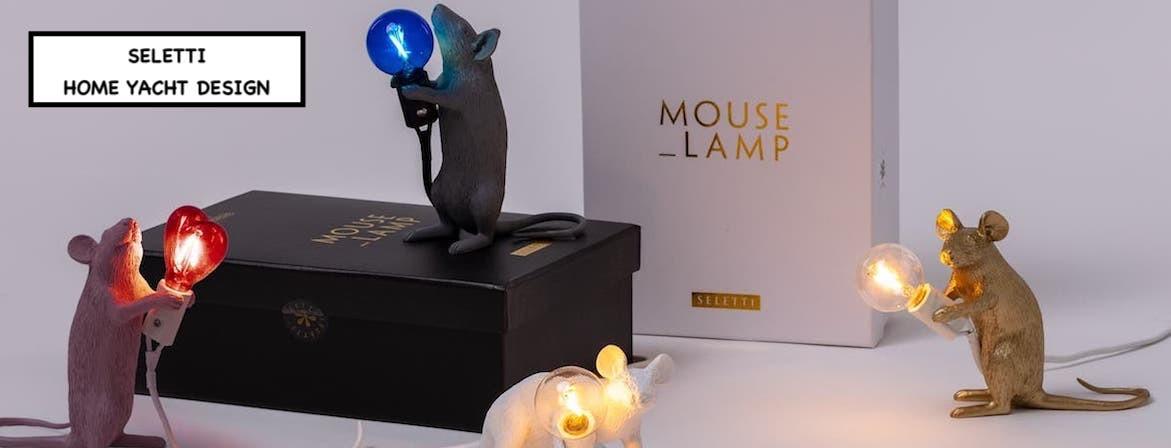 LAMPE SOURIS, Marque SELETTI. HOME YACHT DESIGN